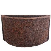 Meio Vaso de Fibra de Coco Nº 17 com Placa COQUIM