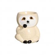 Mini Vaso de Cerâmica para Suculentas Bicho Preguiça Bege 12cm x 10,5cm - 6211