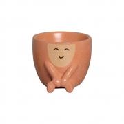Mini Vaso de Cerâmica para Suculentas Harmonia Terracota 9,5cm x 11cm - 6214