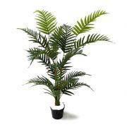 Palmeira Areca Artificial 1,10m fixada no pote com gesso