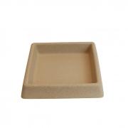 Prato Quadrado Riscatto Vogue cor Areia 25cm x 25cm - PQR3-AR