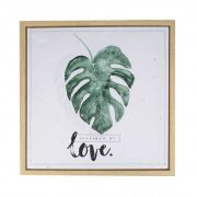 Quadro Decorativo com Moldura Leaves and Love 40cm x 40cm - 40257