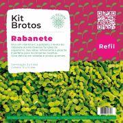 Refil para Kit Brotos Microverdes Rabanete