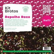 Refil para Kit Brotos Microverdes Repolho Roxo
