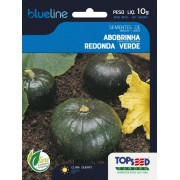 Sementes de Abobrinha Redonda Verde 10g - Topseed Blue Line