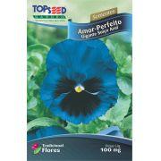 Sementes de Amor Perfeito Gigante Suíço Azul 100mg - Topseed Linha Tradicional Flores