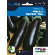 Sementes de Berinjela Comprida Roxa 5g - Topseed Blue Line