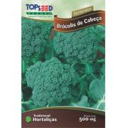Sementes de Brócolis de Cabeça - Topseed Linha Tradicional Hortaliças