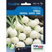 Sementes de Cebola Crystal White Wax (para conserva) 5g - Topseed Blue Line