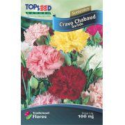 Sementes de Cravo Chabaud Sortido 100mg - Topseed Linha Tradicional Flores