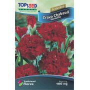 Sementes de Cravo Chabaud Vermelho 100mg - Topseed Linha Tradicional Flores