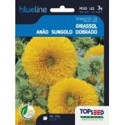 Sementes de Girassol Anão Sungold Dobrado 3g - Topseed Blue Line