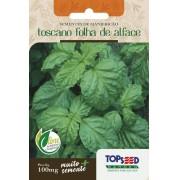 Sementes de Manjericão Toscano Folha de Alface 100mg - Topseed Linha Tradicional