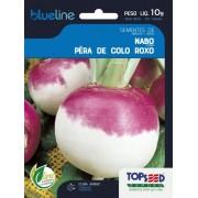 Sementes de Nabo Pera de Colo Roxo 10g - Topseed Blue Line