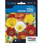 Sementes de Papoula Excelsior Sortida 1g - Topseed Blue Line