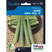 Sementes de Quiabo Santa Cruz 47 10g - Topseed Blue Line