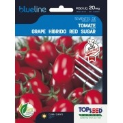 Sementes de Tomate Grape Híbrido Red Sugar F1 20mg - Topseed Blue Line Gourmet