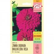 Sementes de Zinnia Gigante da Califórnia Rosa 300mg - Isla Multi