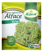 Sementes Orgânicas de Alface Vera 0,05g - Korin