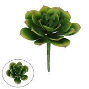 Suculenta Verde com Pontas Rosadas artificial 9cm - 19126001