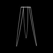 Suporte de Ferro Tripé Branco 60cm para Vasos de 13cm de Diâmetro