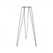 Suporte de Ferro Tripé Preto 60cm para Vasos de 13cm de Diâmetro