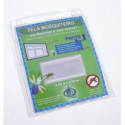 Tela Mosquiteiro em polyester 0,60 m x 0,60 m Branco com fechos de contato marca VELCRO®