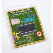 Tela Mosquiteiro em polyester 1,25 x 1,05 Cinza com fechos de contato marca VELCRO®