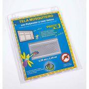 Tela Mosquiteiro em polyester 1,25 x 1,55 Branco com fechos de contato marca VELCRO®