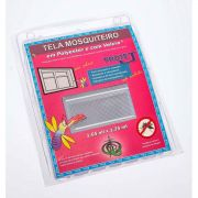 Tela Mosquiteiro em polyester 1,25 x 1,65 Branco com fechos de contato marca VELCRO®