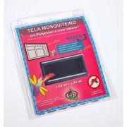 Tela Mosquiteiro em polyester 1,25 x 1,65 Cinza com fechos de contato marca VELCRO®