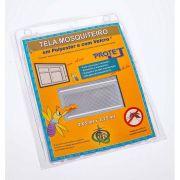 Tela Mosquiteiro em polyester 1,25 x 2,05 Branco com fechos de contato marca VELCRO®