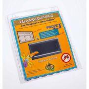 Tela Mosquiteiro em polyester 1,25 x 2,05 Cinza com fechos de contato marca VELCRO®