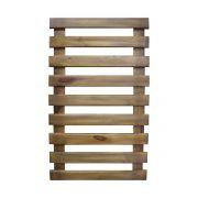 Treliça de madeira 100cm x 60cm para jardim vertical cor Castanho