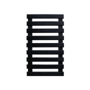 Treliça de madeira 100cm x 60cm para jardim vertical cor Preta