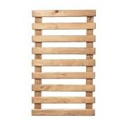 Treliça rústica de madeira tratada 100cm x 60cm para jardim vertical
