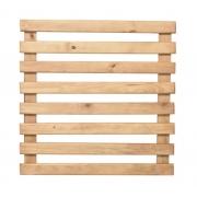 Treliça rústica de madeira tratada 80cm x 80cm para jardim vertical