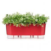 Vaso Autoirrigável Jardineira Vermelho 40cm Raiz