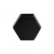 Vaso Cerâmico de Parede Colmeia Preto 24,5cm x 26,5cm - 6115
