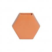 Vaso Cerâmico de Parede Colmeia Terracota 24,5cm x 26,5cm - 6113