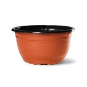 Vaso Cuia Clássica NC22 cor Cerâmica com Borda Preta 11,5cm x 22cm