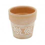 Vaso de Cerâmica Terracota Aztec Big Border 7cm x 7cm - 42069