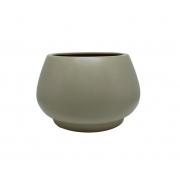 Vaso de Chão Redondo feito em Cerâmica cor Clear Coffe 19cm x 28cm - 6077