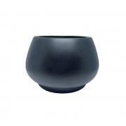 Vaso de Chão Redondo feito em Cerâmica cor Preto 19cm x 28cm - 6079