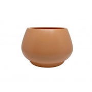 Vaso de Chão Redondo feito em Cerâmica cor Terracota 19cm x 28cm - 6081