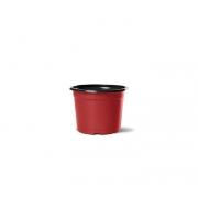 Vaso de Planta Holambra NP 06 Vermelho e Preto