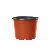 Vaso de Planta Holambra NP 11 cor Cerâmica e Preto