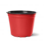 Vaso de Planta Holambra NP 14 Vermelho e Preto