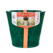Vaso Genebra Marmorato 35cm x 34cm Verde