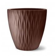 Vaso Infinity Redondo 50cm x 50cm cor Tabaco